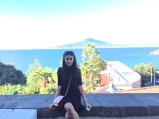 That's Mt. Vesuvius In The Background